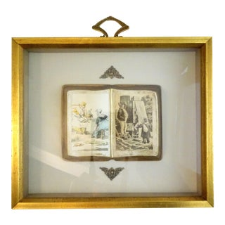 Vintage Art Gravure Book Shadow Box