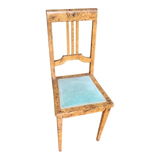 19th Century Biedermeier Burl Birch Side Chair For Sale