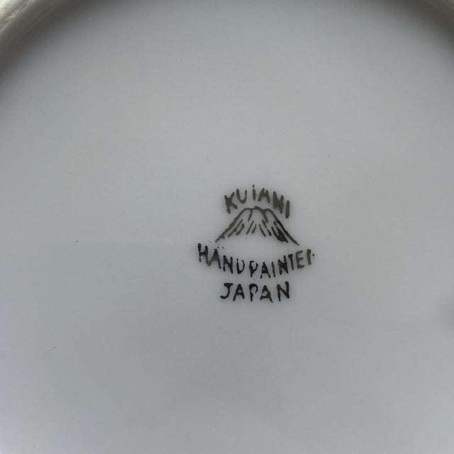 Mid Century Japanese Kutani Handpainted Dinnerware Plates & Bowls - 18 Pieces For Sale - Image 5 of 11