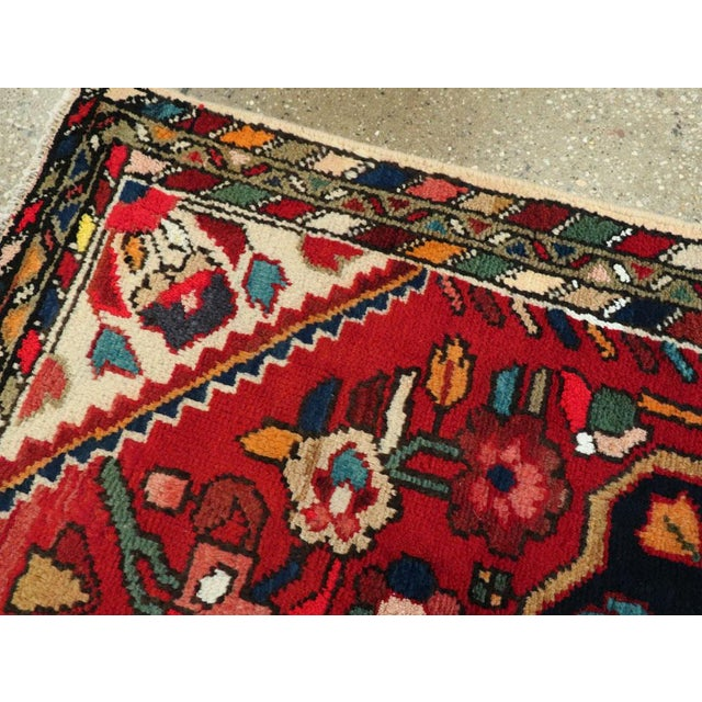 """Mid 20th Century Vintage Persian Hamadan Rug – Size: 2' 5"""" X 4' 1"""" For Sale - Image 5 of 9"""