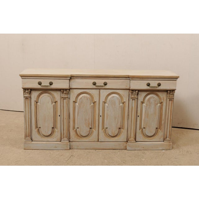 Mid-20th Century Painted Wood Buffet For Sale - Image 4 of 12
