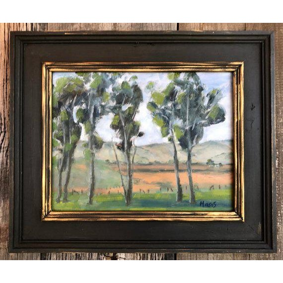 Rush Ranch Eucalyptus Contemporary Plein Air Painting For Sale - Image 9 of 9