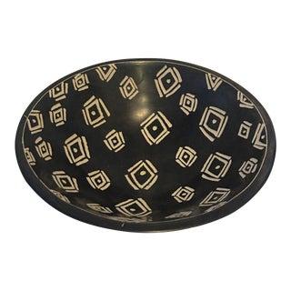 Vintage Dark Brown & Ivory Bakelite Bowl For Sale