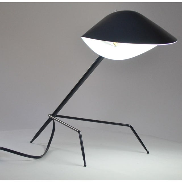 Mid-Century Modern Serge Mouille Tripod Desk Lamp For Sale - Image 3 of 5
