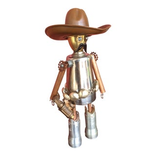 Bandito Quick Draw Metal Assemblage Folk Art For Sale