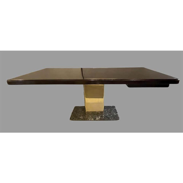 Warren Platner Desk Mid-Century Modern on a Rosewood, Brass and Marble Base For Sale - Image 11 of 13