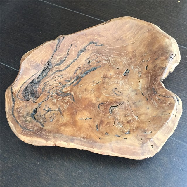 Handmade Burl Wood Dish - Image 2 of 6