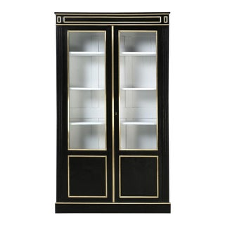 French Louis XVI Ebonized Mahogany Bookcase For Sale