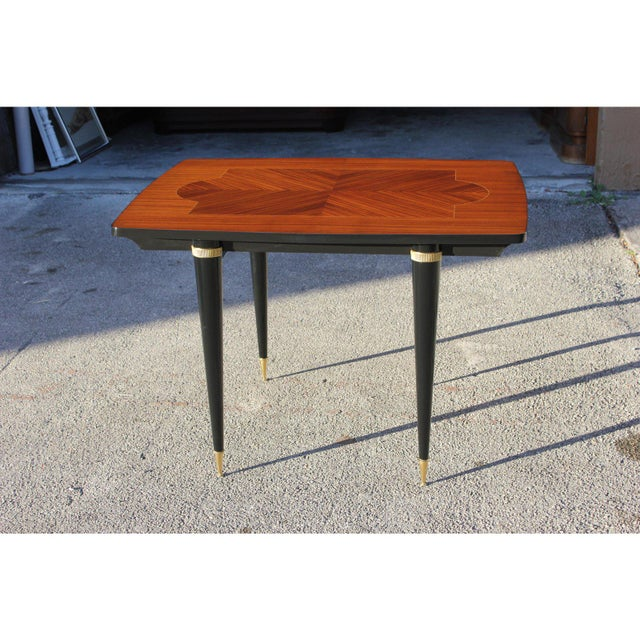 1940s Art Deco Exotic Macassar Ebony Game Table For Sale - Image 10 of 13