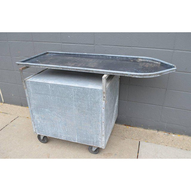 Bar on Wheels / Potting Table / Plant Stand from Galvanized Vet Exam Table - Image 2 of 10