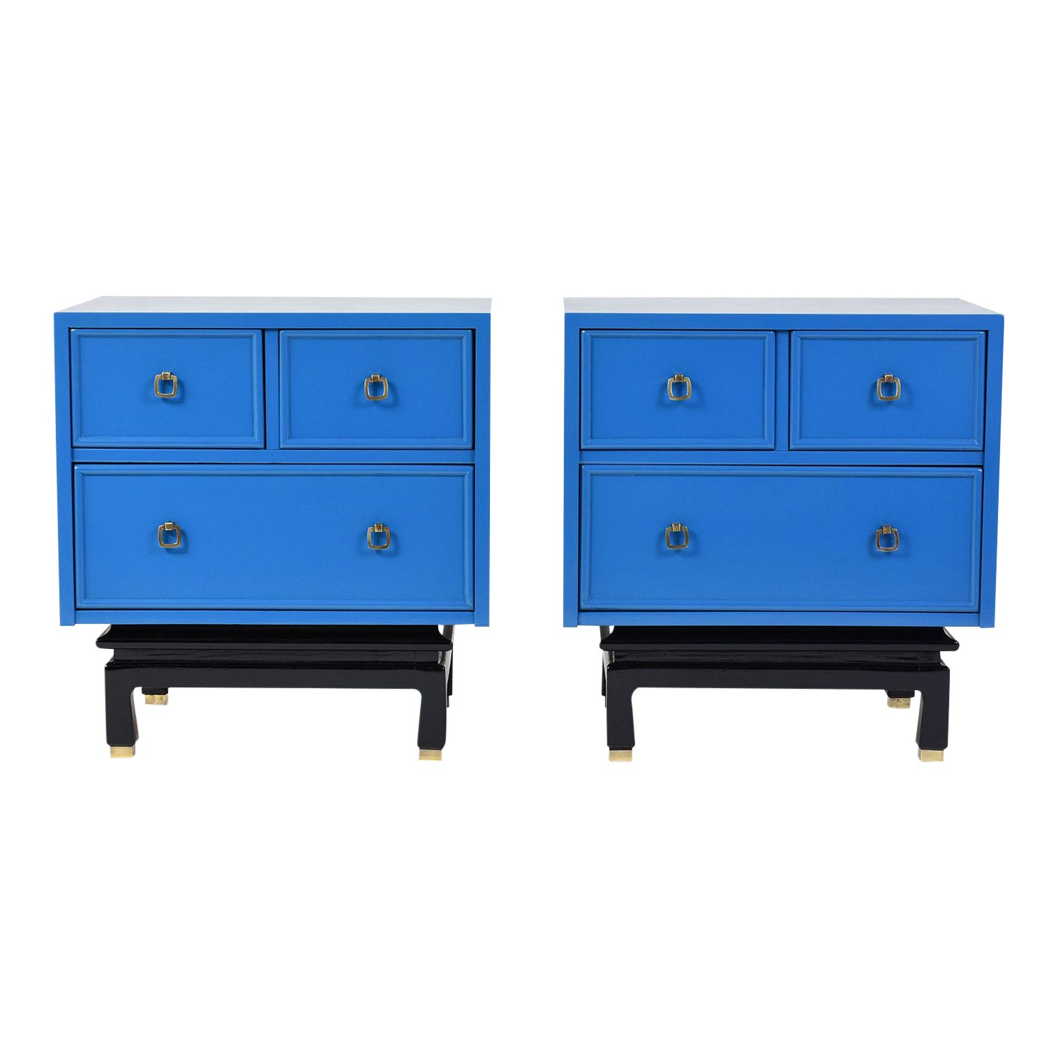 Pair of Mid-Century Modern-Style Chest of Drawers by American of ...