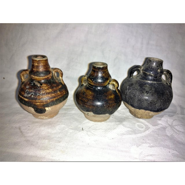 Ancient Thai Oil Jars - Set of 3 For Sale - Image 4 of 8
