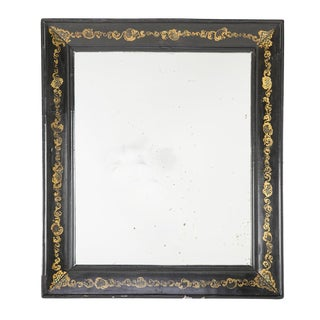Napoleon III Black Wood Frame With Gold Scrolling Motif For Sale