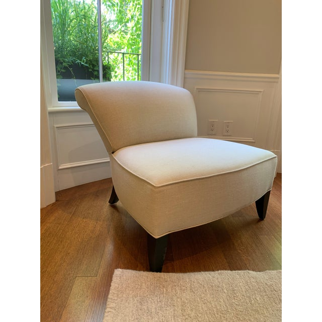 2010s Traditional Todd Hase Govida Mohair Amelia Slipper Chairs - a Pair For Sale - Image 5 of 8