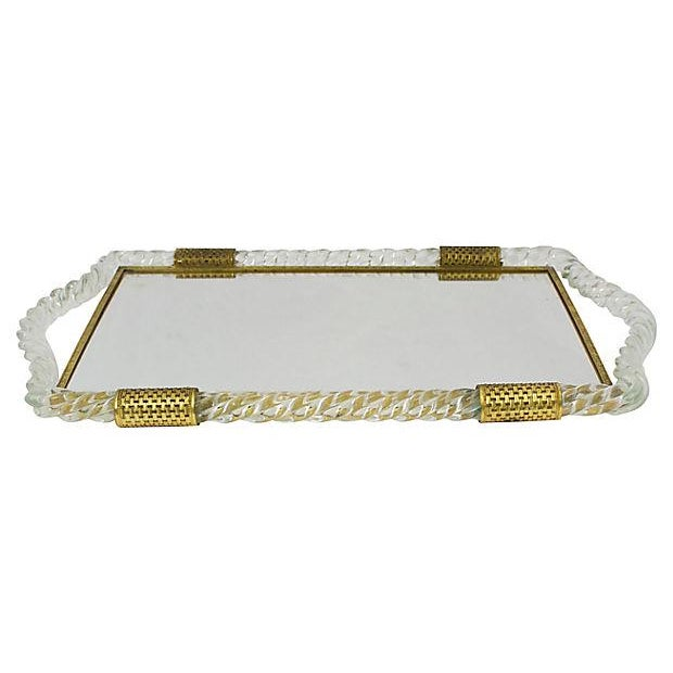 Italian Glass Vanity Tray - Image 2 of 6