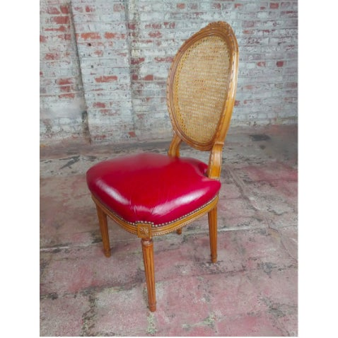 French Louis XVI Seat Dining Chairs - Set of 8 For Sale - Image 3 of 10