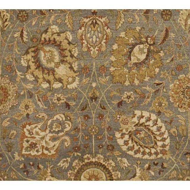 """Fiber Hand Knotted Indian Rug - 10'x 14'5"""" For Sale - Image 7 of 7"""