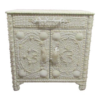 Coastal Sea Shell Cabinet For Sale