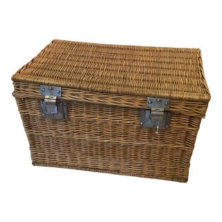 1900 French Laundry Basket For Sale