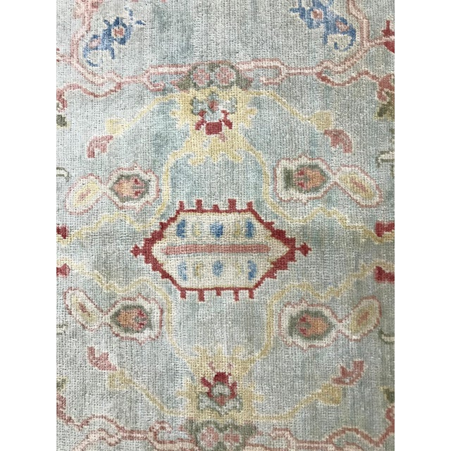This is a 100% wool on wool handmade handspun wool Turkish Oushak rug. Oushak Rugs are made for palaces in the Ottoman...