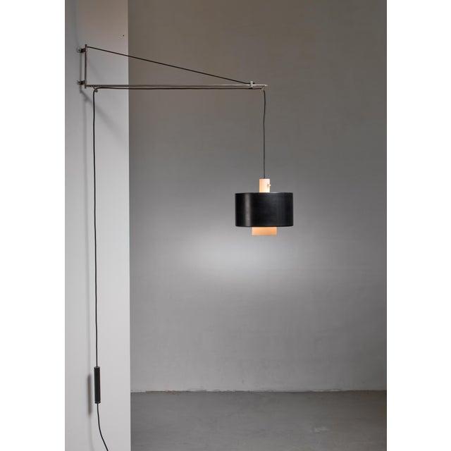 Black Gaetano Sciolari Wall Lamp for Stilnovo, Italy, 1950s For Sale - Image 8 of 8