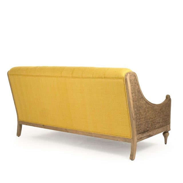 French Country Graham Walsh Sofa in Mustard For Sale - Image 3 of 5