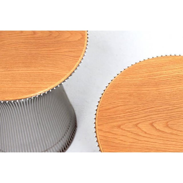 Silver Pair of Side Tables by Warren Platner for Knoll For Sale - Image 8 of 11