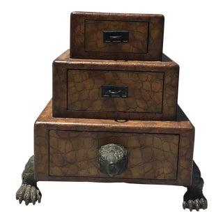 Maitland Smith Turtle Stacking Boxes