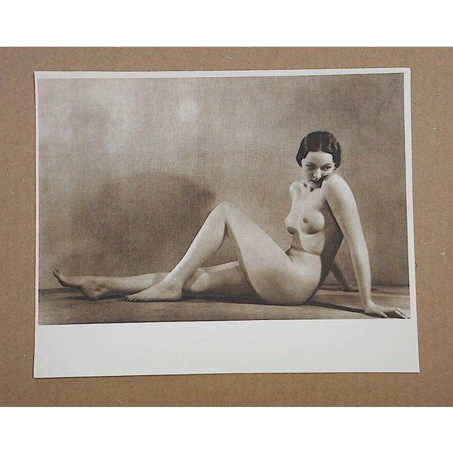 Art Deco Vintage Mid Century Nude Photogravure For Sale - Image 3 of 3