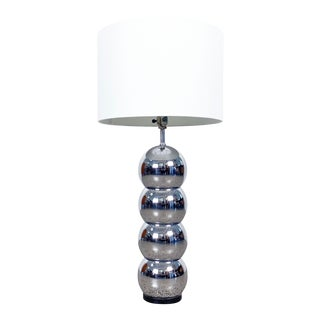 George Kovacs Stacked Chrome Ball Table Lamp For Sale