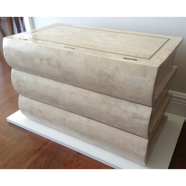 Maitland Smith Tessellated Stacked Book Chest For Sale In West Palm - Image 6 of 11