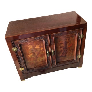 1980s Asian Antique Bernhardt Furniture Shibui Artwork Consolee For Sale