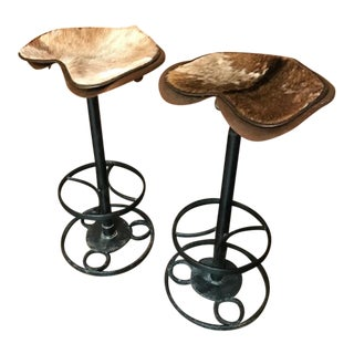 Vintage Mid Century Tractor Seat Bar Stools- A Pair For Sale