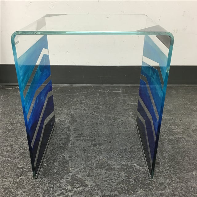 Design Plus Consignment Gallery has a beautiful Tony Sosa Hand Painted End Table, in a collaboration with Glassisimo...