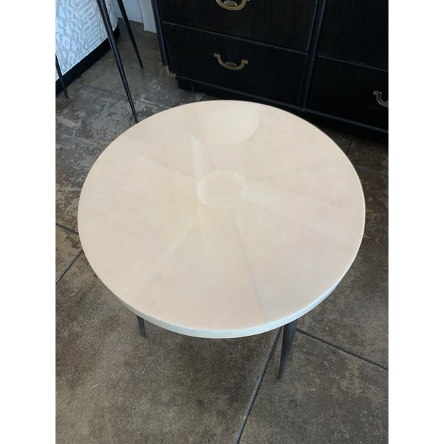 Contemporary Vellum Side Table For Sale In Los Angeles - Image 6 of 9