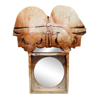 1960s Michael Cohen Studio Pottery Mirror For Sale