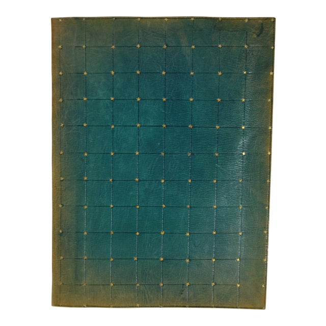 Early 20th Century Antique Green Leather Portfolio For Sale