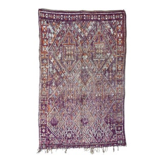 Antique Moroccan Handmade Rug For Sale