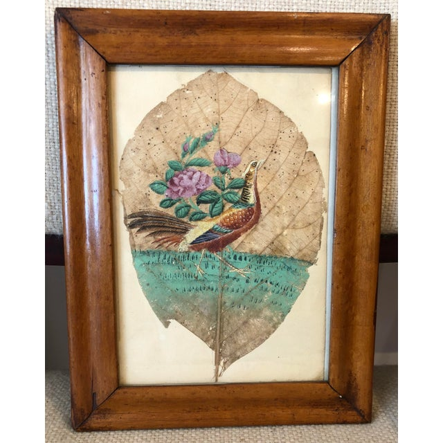 Mid 19th Century Mid 19th Century Tobacco Leaf Painting For Sale - Image 5 of 6