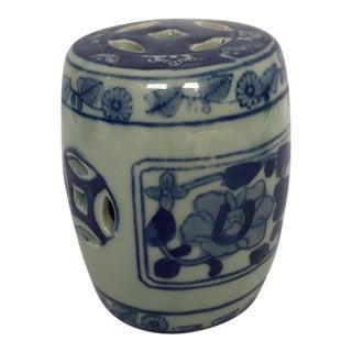 Miniature Blue & White Porcelain Garden Seat
