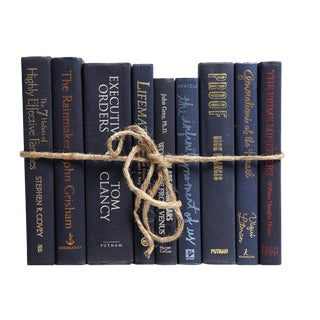 Modern Navy Colorpak : Decorative Books in Shades of Dark Blue