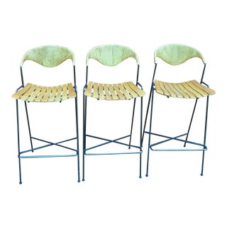Mid Century Modern Arthur Umanoff Barstools- Set of 3 For Sale