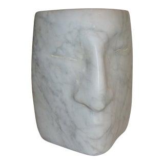 1960s Vintage Jacob Sandler Marble Head Sculpture For Sale