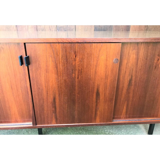 Metal 1960s Florence Knoll Walnut Sideboard For Sale - Image 7 of 9