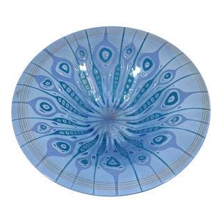 Higgins Studio Glass Delphinium Bowl For Sale