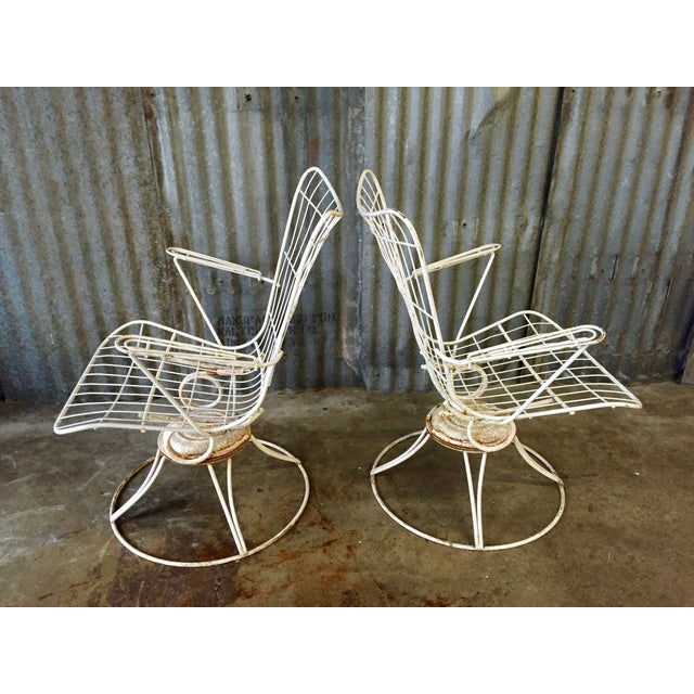 Vintage Homecrest Swivel Chairs - A Pair - Image 6 of 11