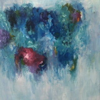 """""""Floating Flowers"""" Abstract Painting For Sale"""