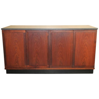 Walnut Credenza With Slate Top by Jack Cartwright for Founders Furniture Co. For Sale