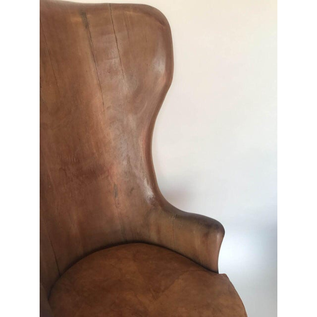 Mahogany Organic Modern Mahogany Occasional Chair For Sale - Image 7 of 9