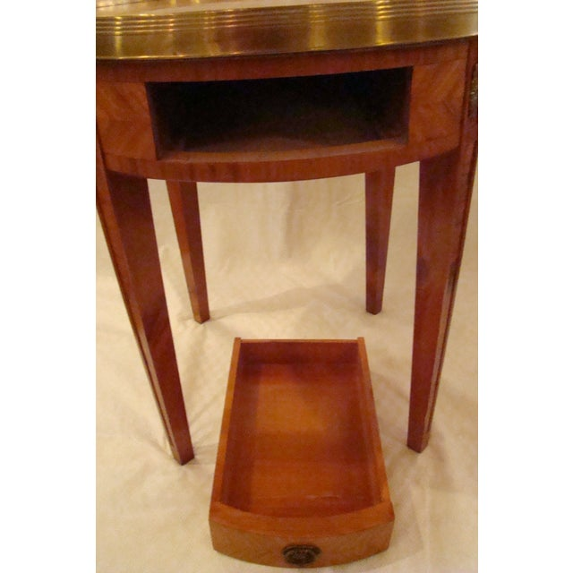 French Louis XVI Style Bouillotte Table - Image 10 of 11